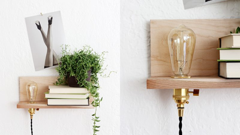 Comment cr er une tag re lumineuse diy shake my blog - Etagere lumineuse ikea ...