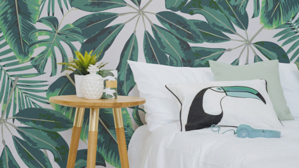 le papier peint tropical pour d corer votre int rieur shake my blog. Black Bedroom Furniture Sets. Home Design Ideas