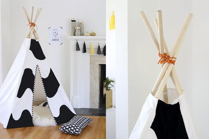 une tente tipi diy pour chat shake my blog. Black Bedroom Furniture Sets. Home Design Ideas