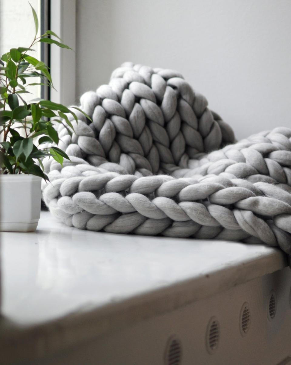 tricoter plaid xxl