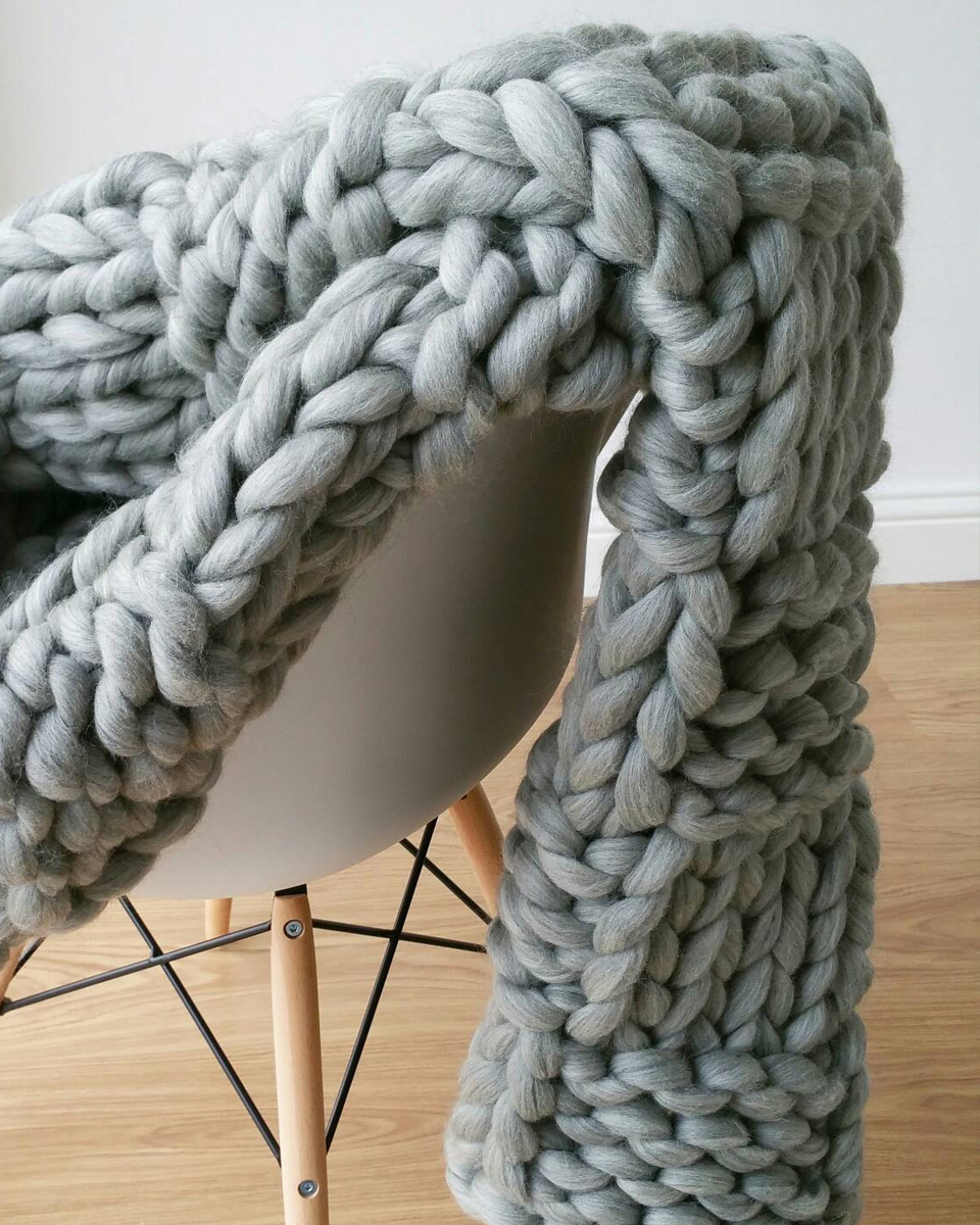 un plaid en tricot g ant xxl shake my blog. Black Bedroom Furniture Sets. Home Design Ideas