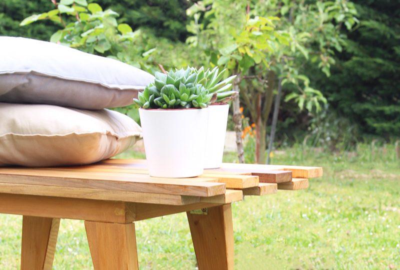 banc jardin palette diy