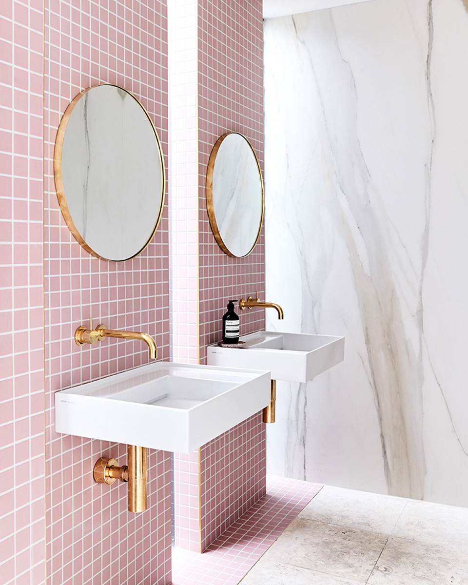 deco rose salle de bain