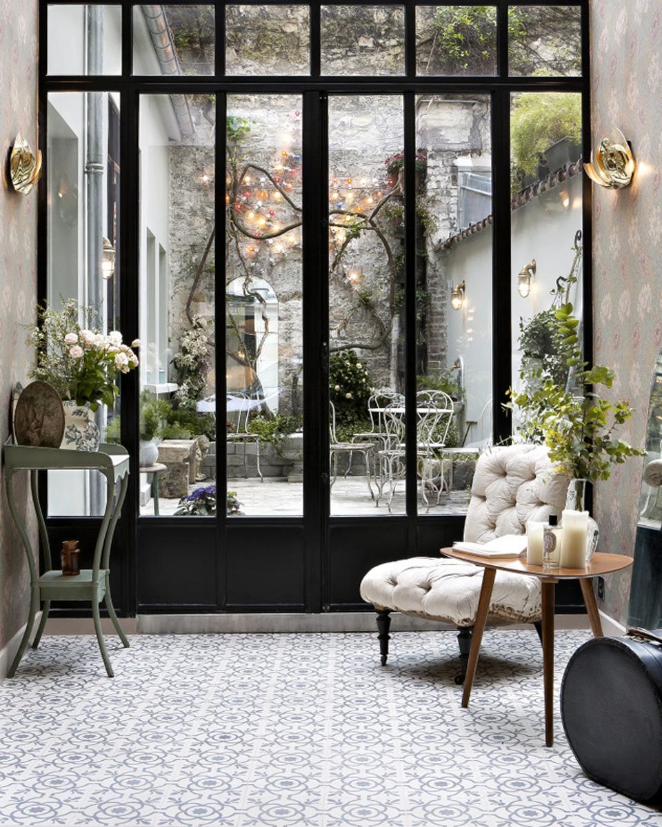 15 id es d co avec des carreaux de ciment shake my blog. Black Bedroom Furniture Sets. Home Design Ideas
