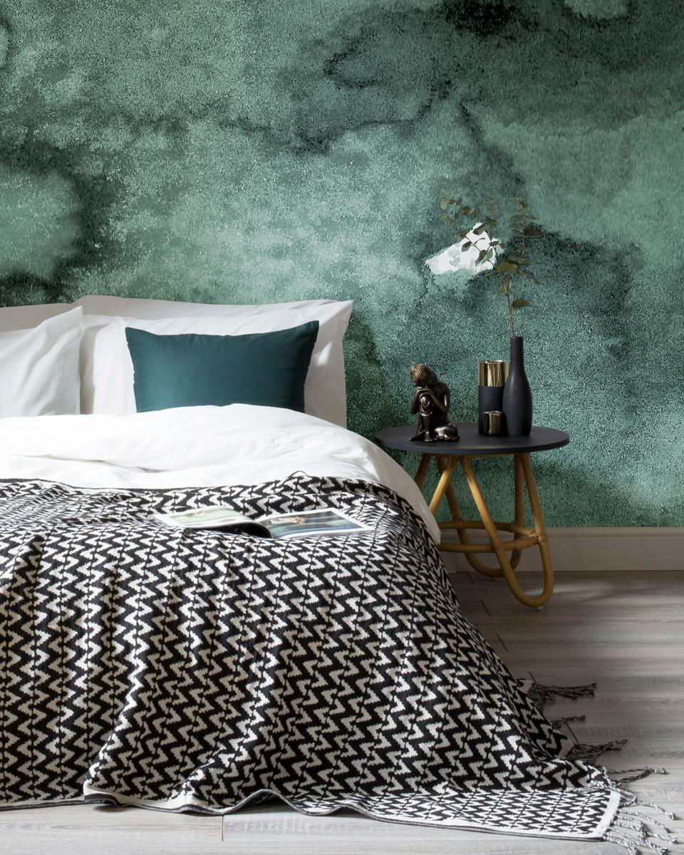 deco vert chambre papier peint