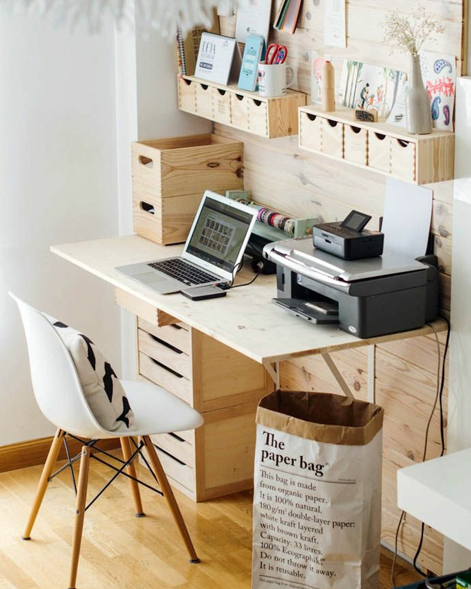 15 id es diy pour le bureau shake my blog. Black Bedroom Furniture Sets. Home Design Ideas