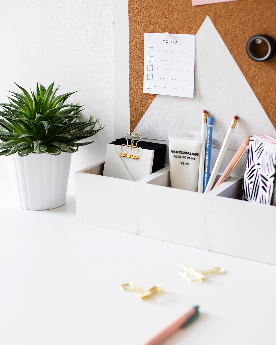15 id es diy pour le bureau shake my blog. Black Bedroom Furniture Sets. Home Design Ideas
