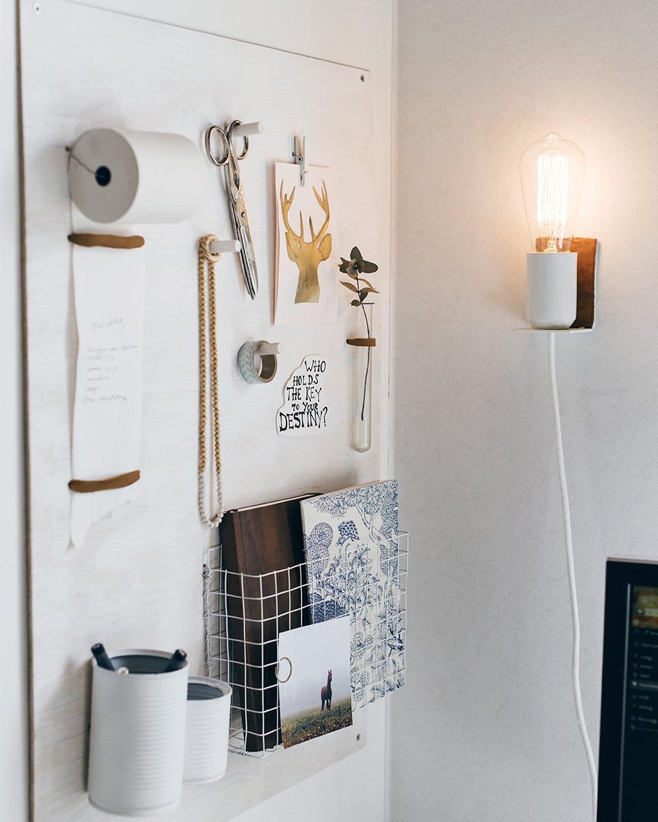 lampe diy murale cuir