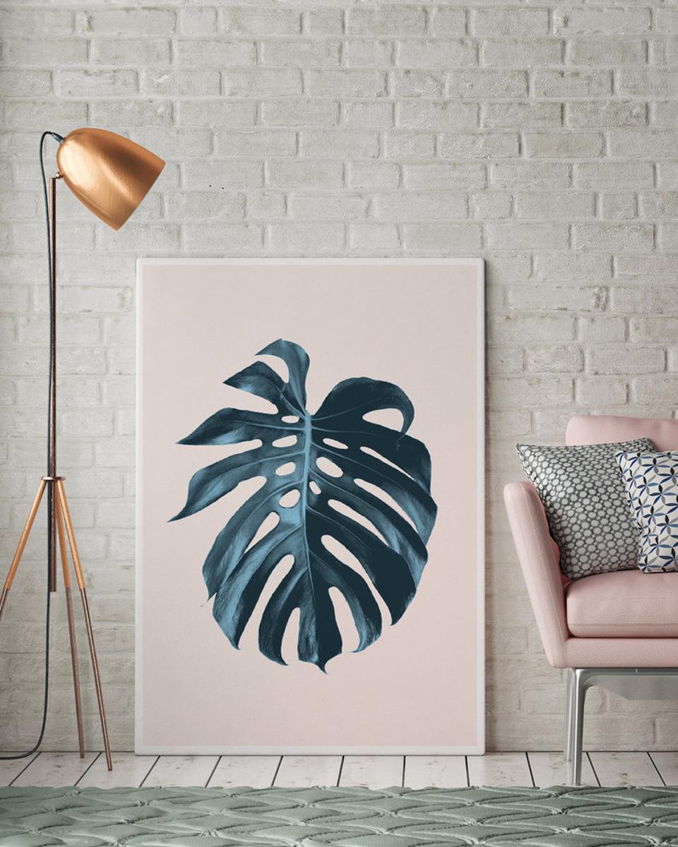 affiche été plante tropicale