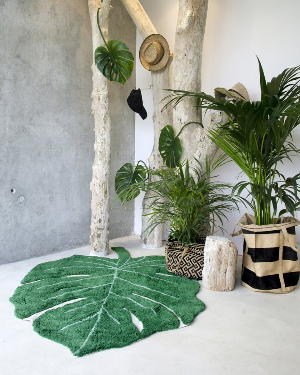 deco plante monstera tapis
