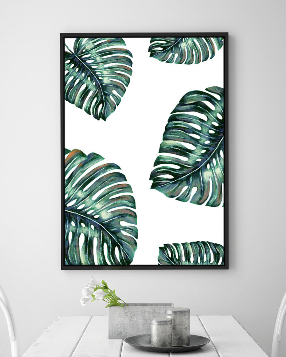 deco plante monstera affiche