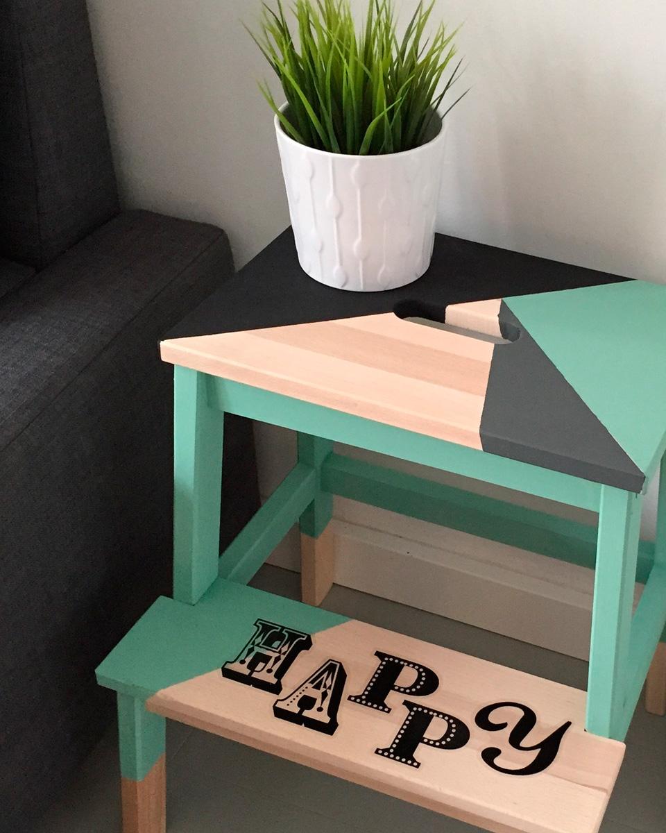 10 ikea hack avec des tabourets shake my blog. Black Bedroom Furniture Sets. Home Design Ideas