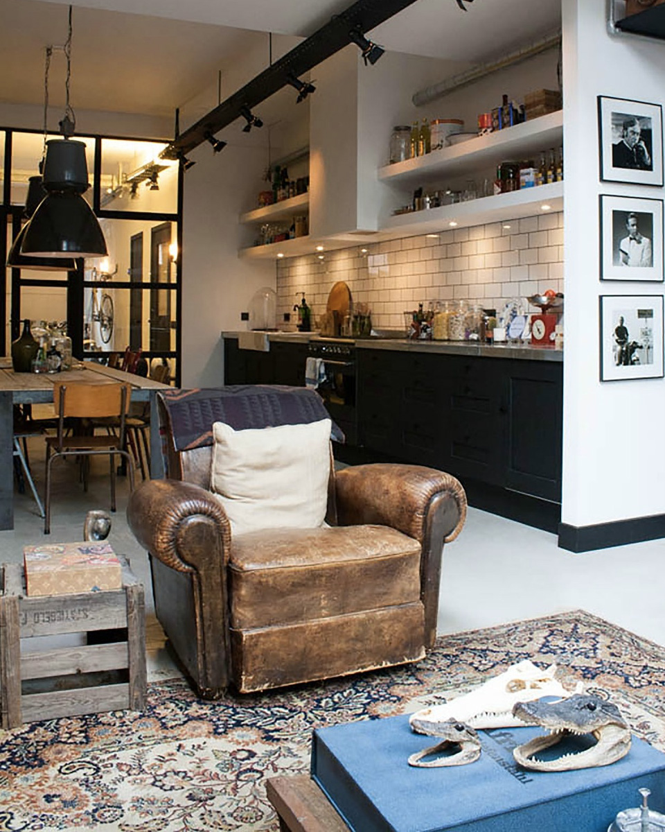 4 astuces pour cr er une d co industrielle shake my blog - Deco industrielle salon ...
