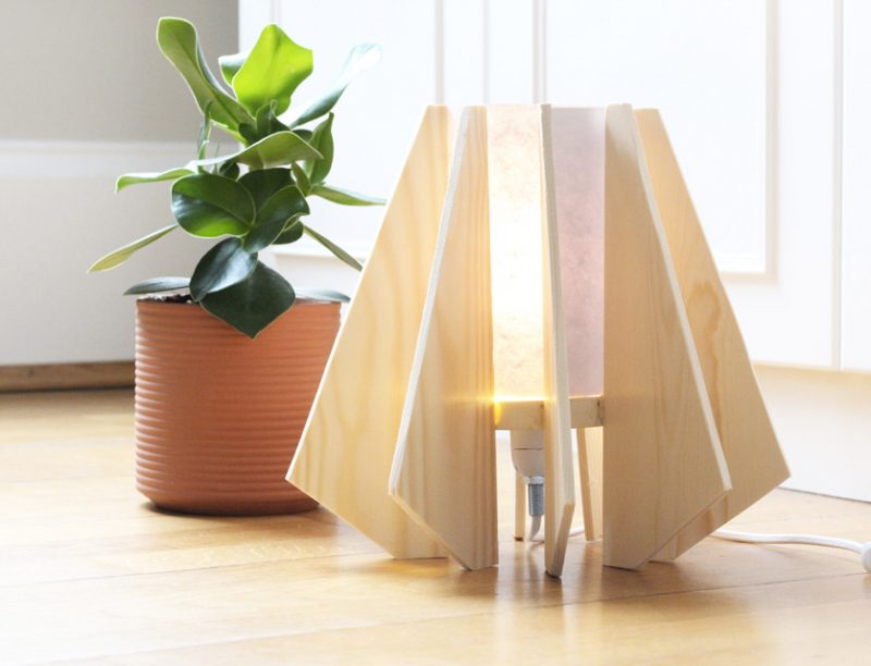 lampe bois diy