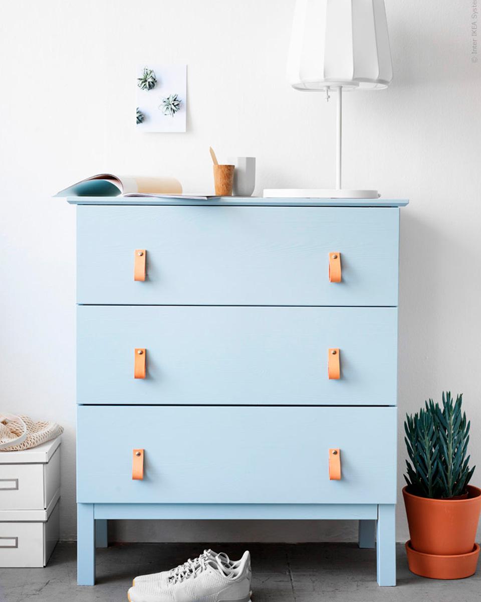 10 id es diy pour relooker vos poign es de meubles shake - Poignee de meuble en cuir ...