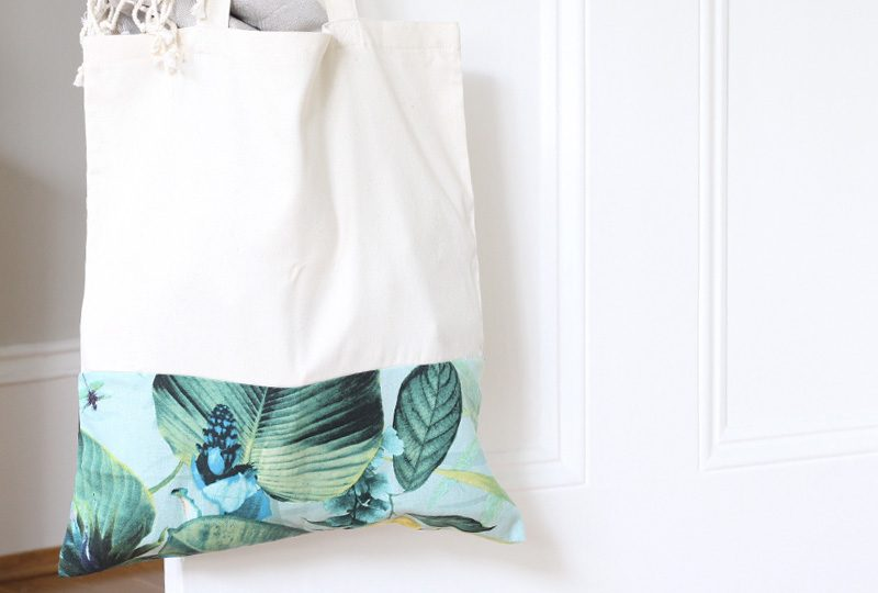 totebag tropical diy