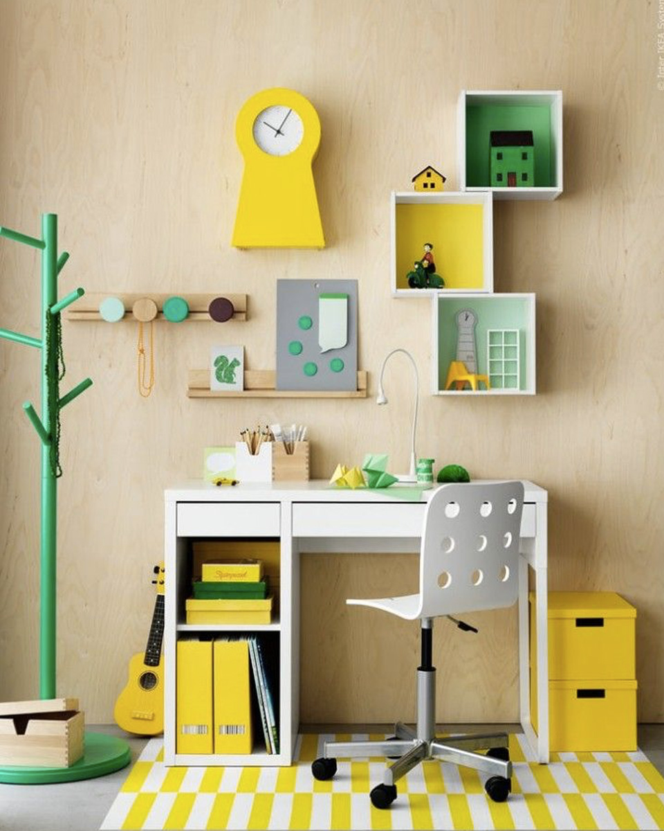 10 id es d co pour un bureau d enfant shake my blog. Black Bedroom Furniture Sets. Home Design Ideas