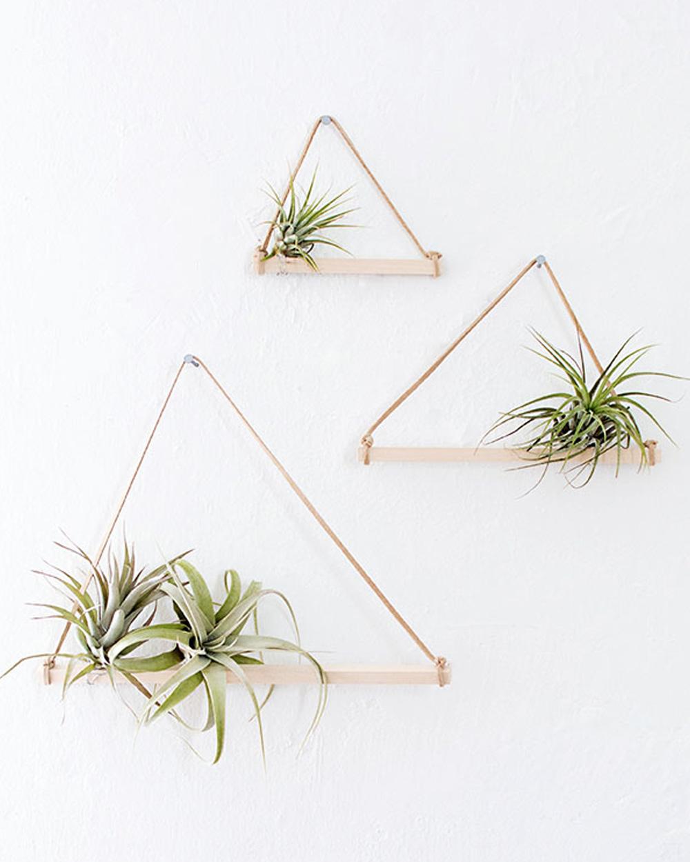 suspension plante diy étagère