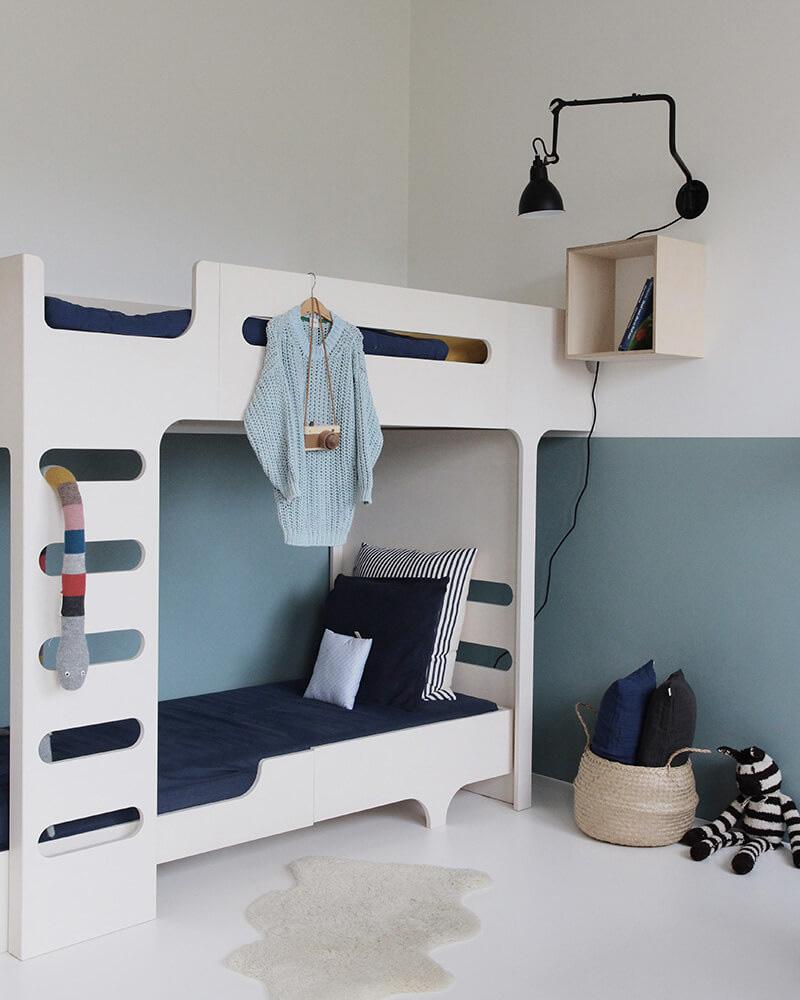 deco chambre double enfant lit superposé design