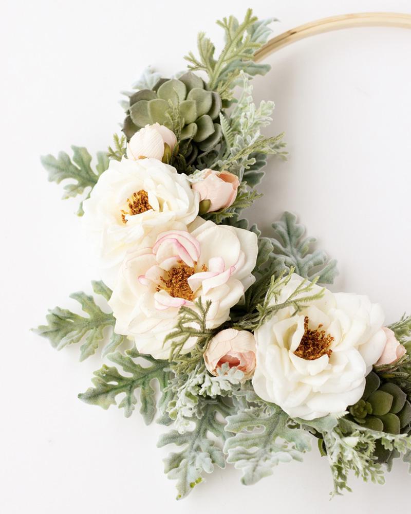 couronne fleur diy