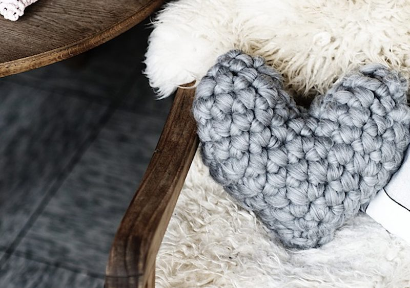 coussin tricot diy