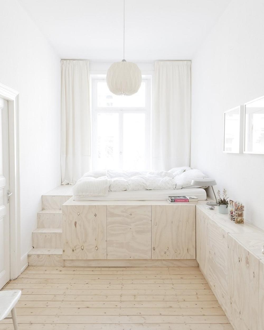 deco chambre gain de place lit en hauteur