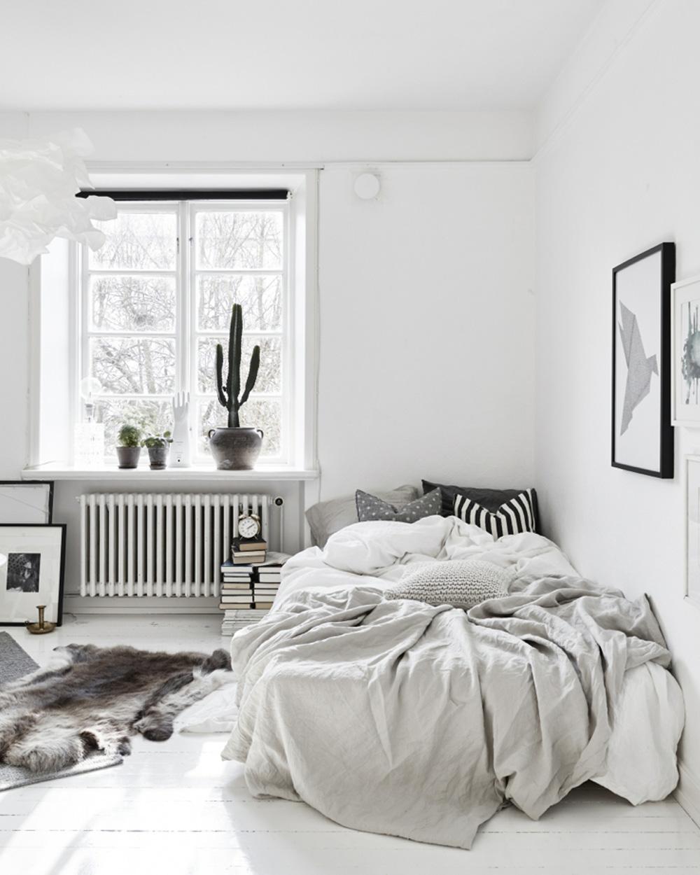 deco chambre gain de place blanc