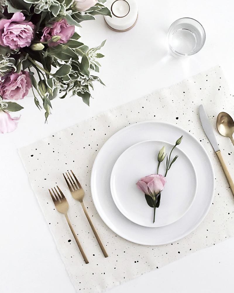 diy set de table tissu