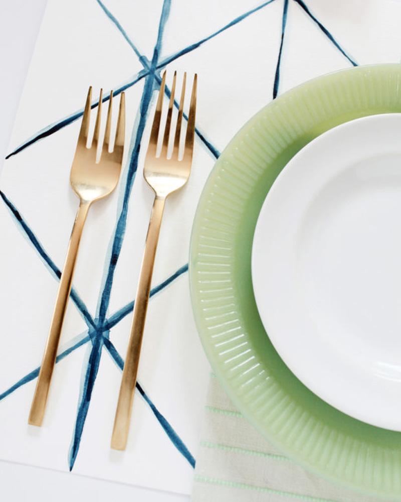 diy set de table peinture