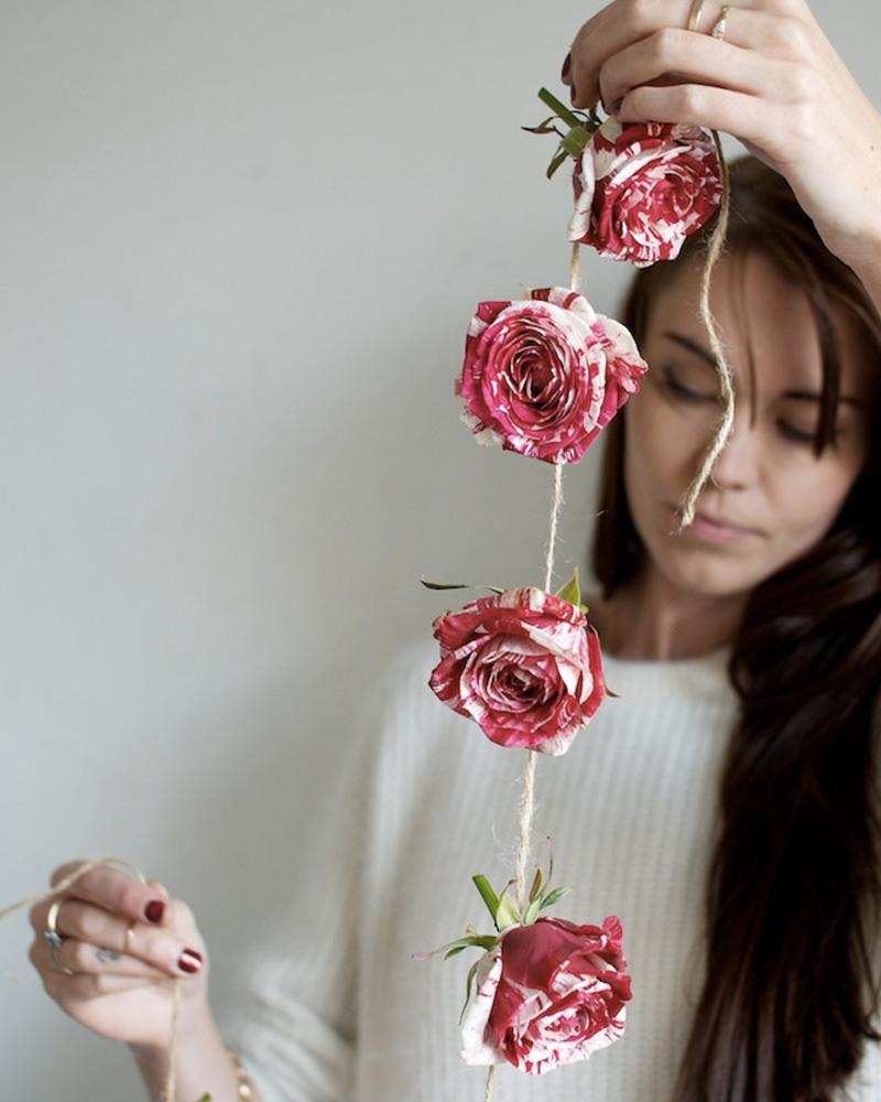 guirlande fleur diy