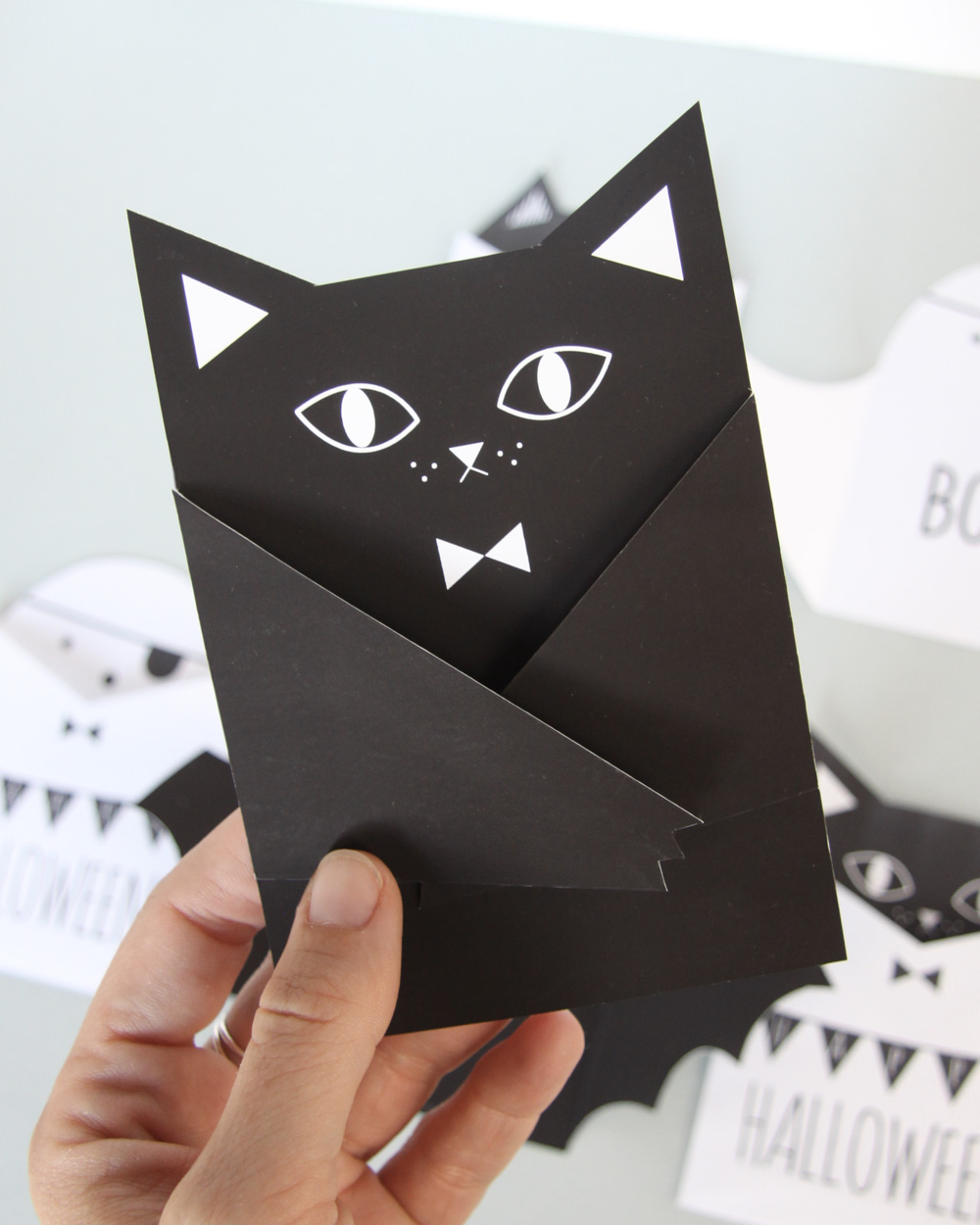 printable diy halloween invitation chauve souris