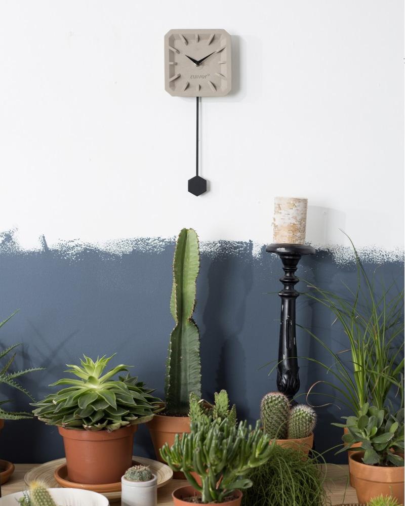 horloge béton boite a design