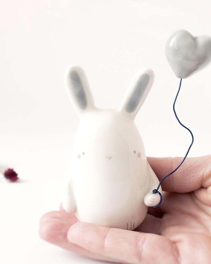 cadeau diy saint valentin lapin céramique
