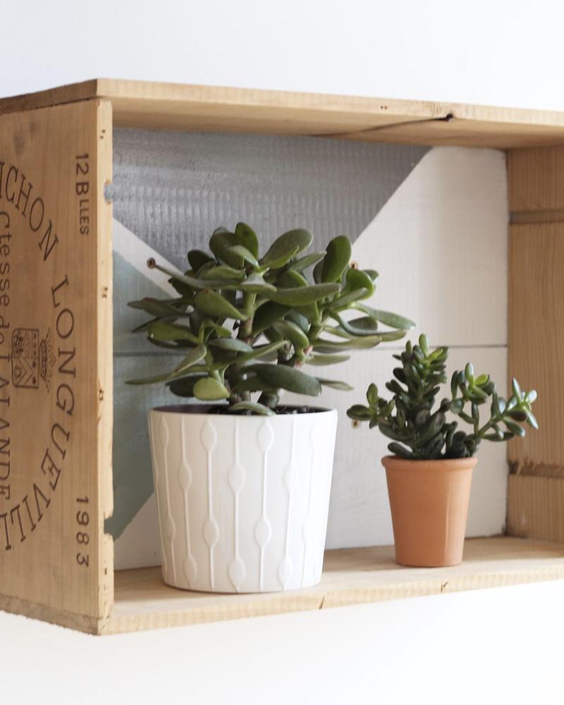 diy caisse bois étagère