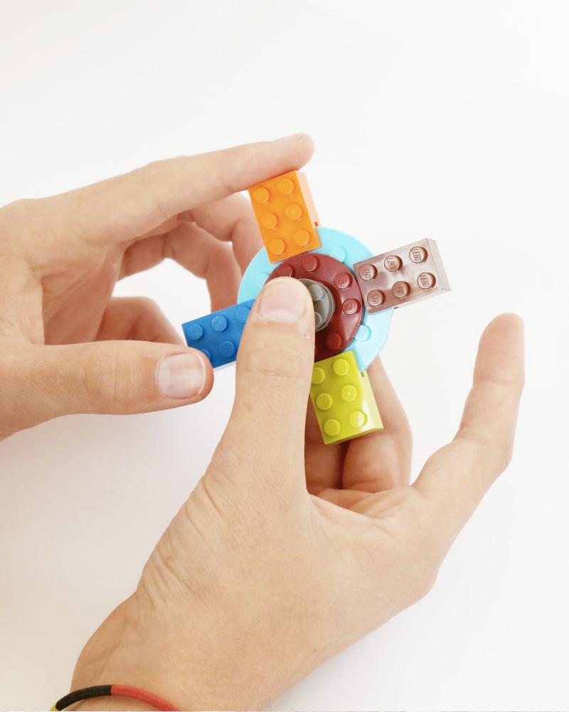 diy hand spinner lego