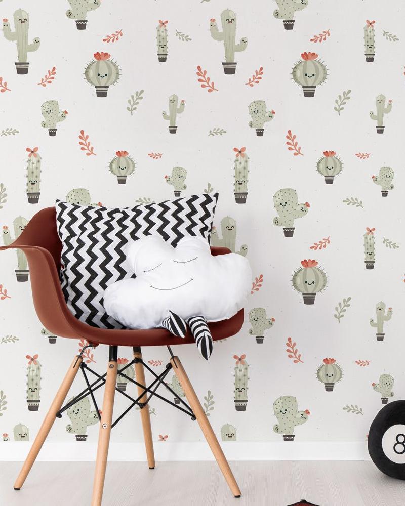 papier peint papermint cactus