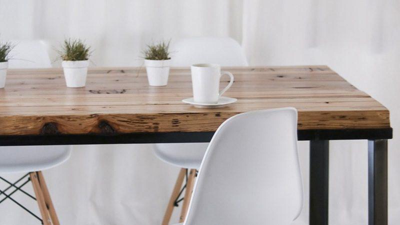 table salle à manger diy bois métal