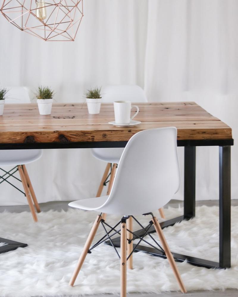 5 tables diy pour votre salle manger shake my blog - Table salle a manger metal ...