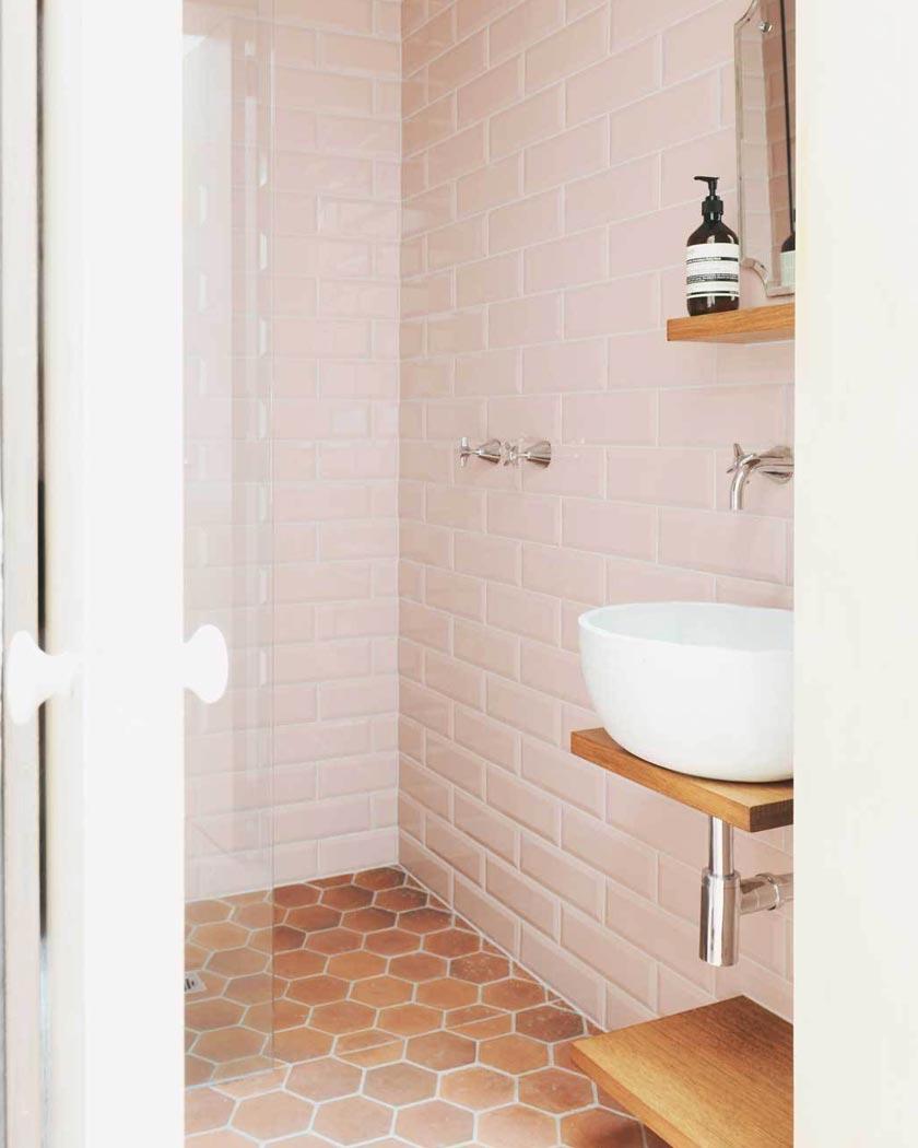 deco couleur terracotta rose blush salle de bain