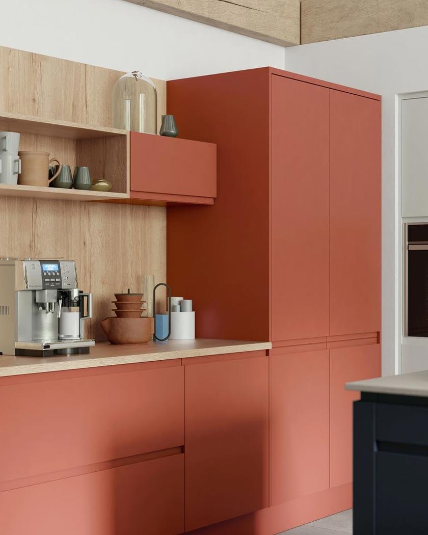 deco couleur terracotta meubles cuisine