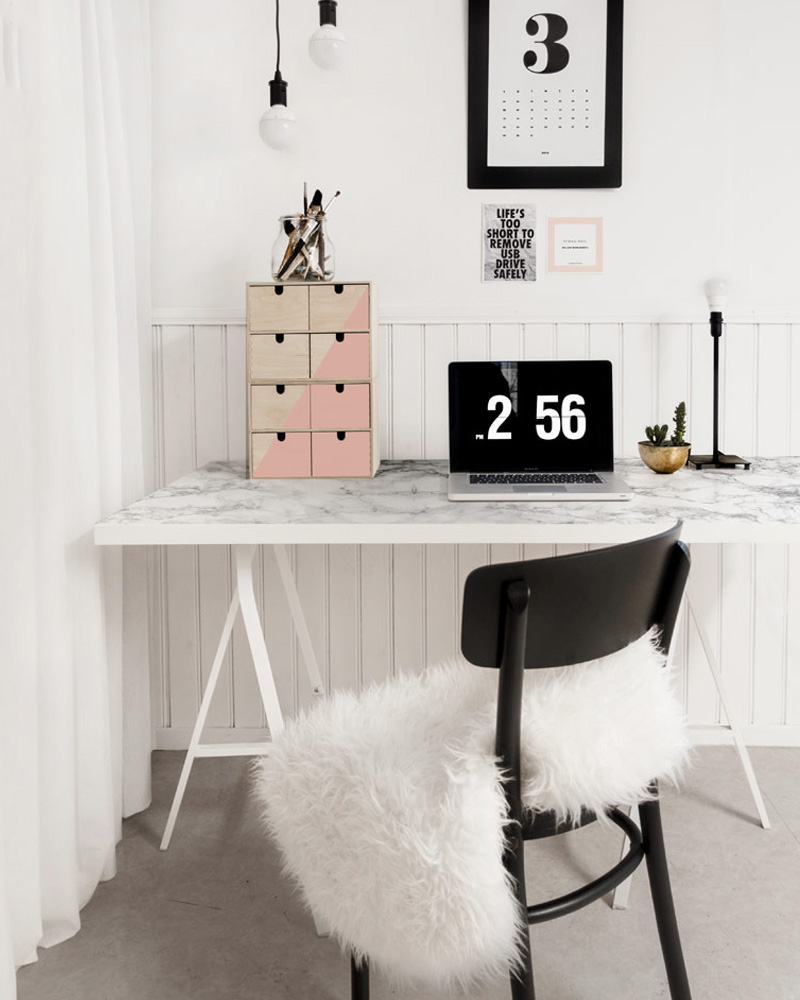 5 ikea hack pour d corer votre bureau shake my blog. Black Bedroom Furniture Sets. Home Design Ideas