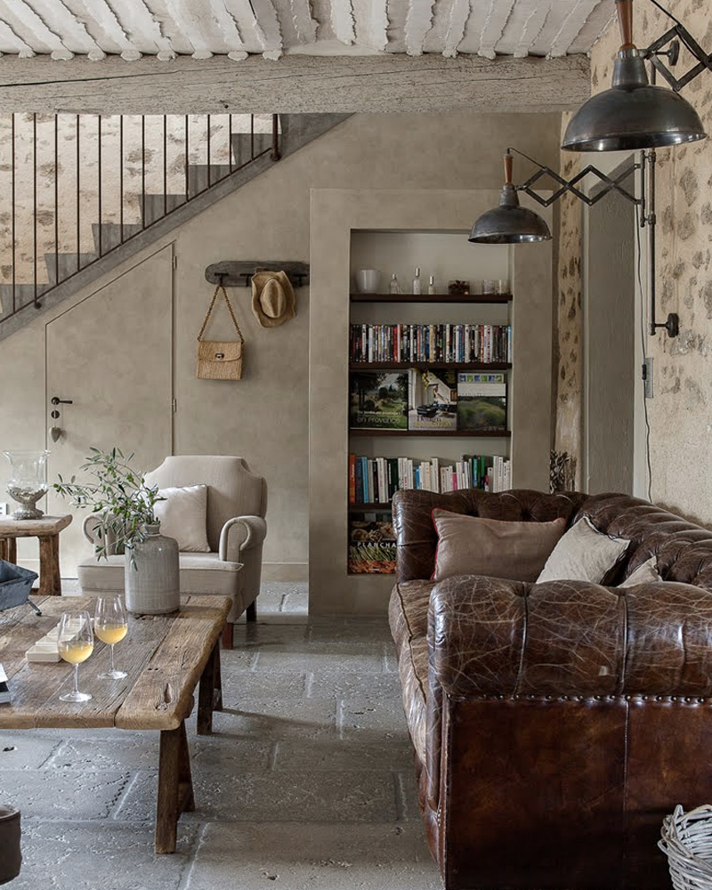 deco salon campagne elegant salon style campagne bois et pierres style campagne chic deco. Black Bedroom Furniture Sets. Home Design Ideas