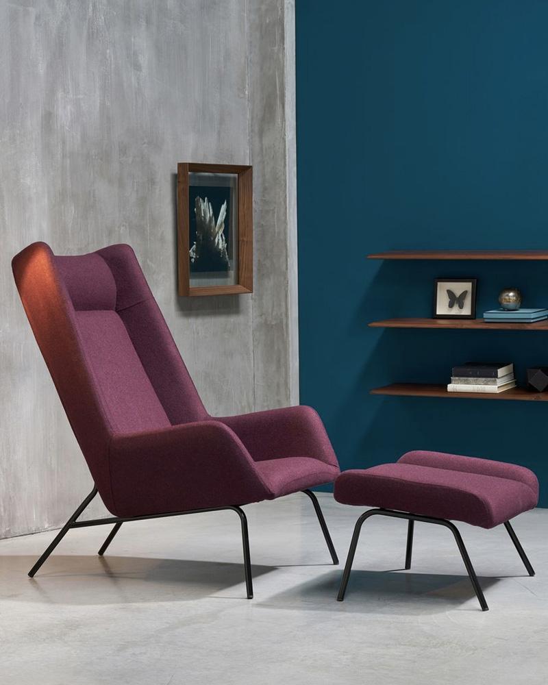 deco violet fauteuil moderne