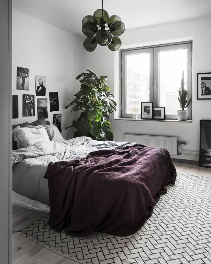deco violet chambre couvre lit