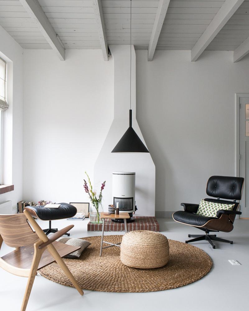 lounge chair eames noir