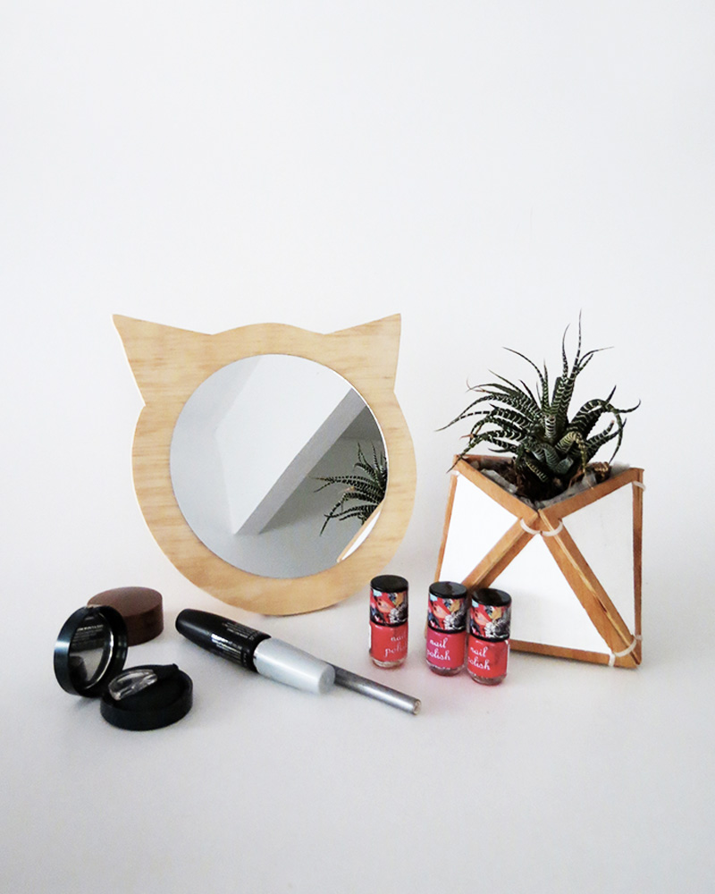 miroir diy à poser chat