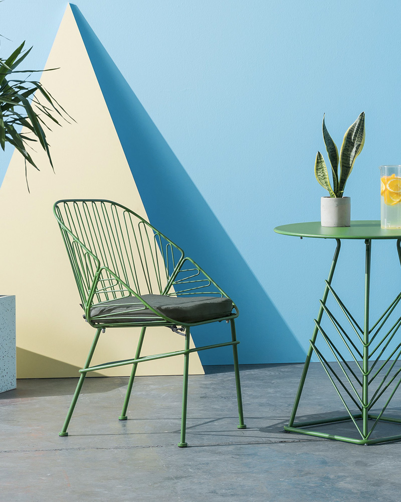 selection deco jardin chaise métal