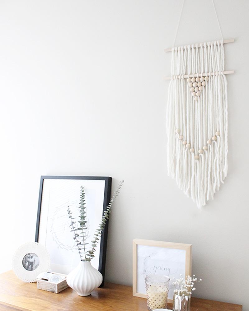 10 id es diy pour cr er un tissage mural shake my blog. Black Bedroom Furniture Sets. Home Design Ideas