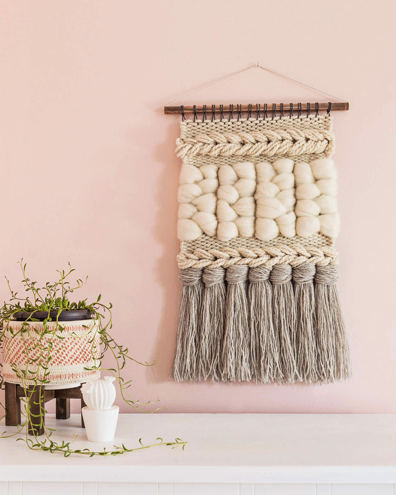 tissage mural diy grosse laine