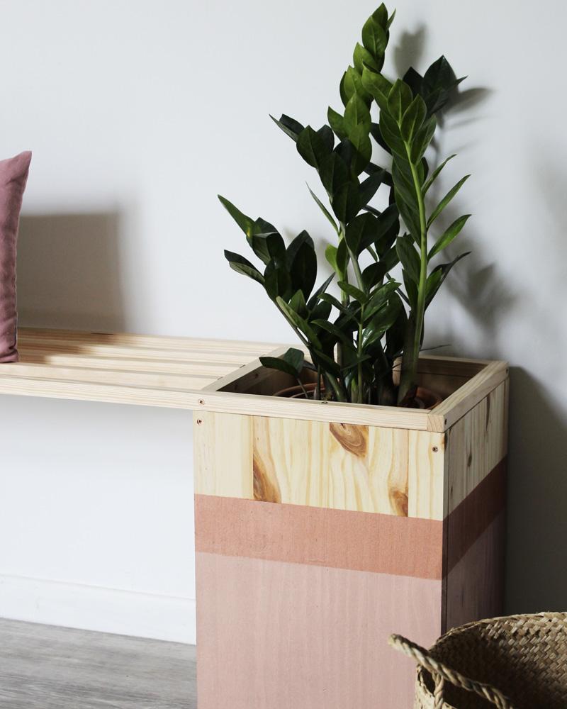 banc plante diy bois